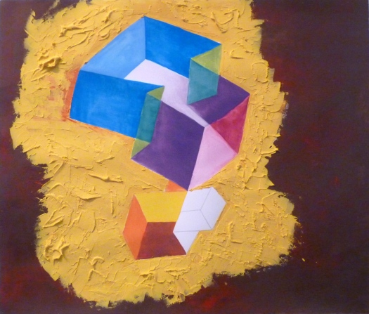 """Untitled"" Acrylic on Paper, 24 x 24 in, 2012"