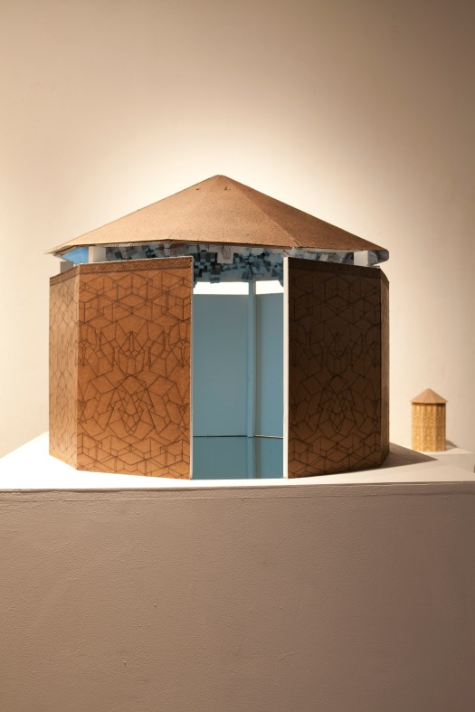 """Mauseleum Model"" Wood, Resin, and Glass 24 x 36 x 36 in"
